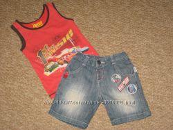 Джинсовые шорты мальчику на рост 100-110см