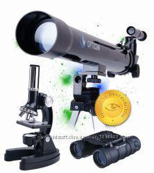 Новый набор Opticon - телескоп  микроскоп  бинокль, Польша.