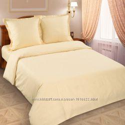 Однотонное постельное белье, поплин - натуральный хлопок