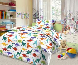 Эксклюзивная новинка - постельное белье с динозаврами Дино-пати