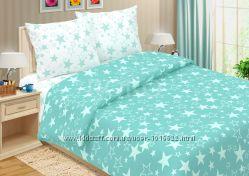 Яркое постельное белье со звездами из поплина