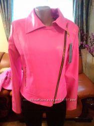 Куртка кожзам розовая