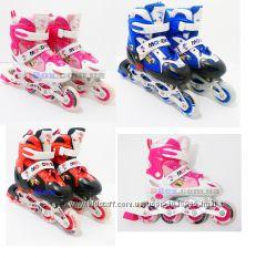 Ролики детские раздвижные 4 колеса перестановка колеса