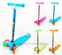 Самокат детский Delux Maxi Scooter 70 кг перламутровая ручка и разноцветный