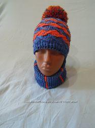 шапка детская и снуд