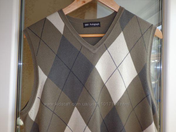 Мужской свитер жилетка безрукавка Marks&Spencer M&S