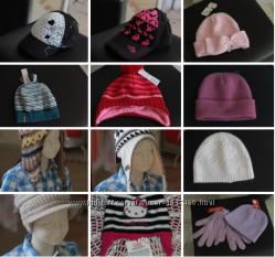 Теплые шапочки на флисовой подкладке H&M и др.