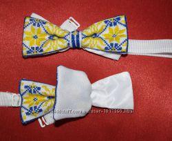 Оригинальный галстук, бабочка ручная вышивка на любой вкус