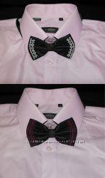двойная бабочка-галстук ручная вышивка для взрослых и детей