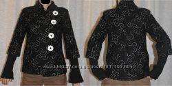 Пальто с узором рукав 34 трикотажный