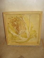 Картина - экибана,  новая,  натуральное дерево,  экологически чистые натура