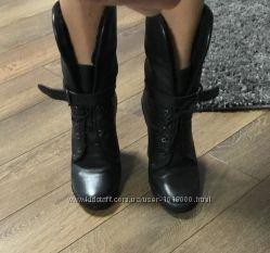 Красивые сапоги  ботильоны  ботинки Braska кожа