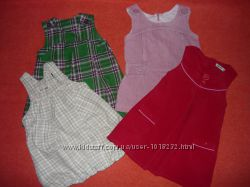 Теплое платье сарафан на 1-2 года. Р. 74-80-86.