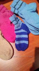 Вязаные носочки для зимы.