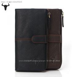 Мужской клатч, кошелек, бумажник, портмоне. Кожа