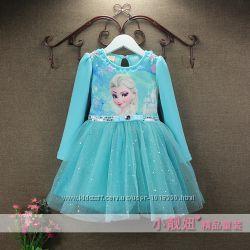 Теплое нарядное платье, зима, героиня из мультика Холодное серде - Эльза