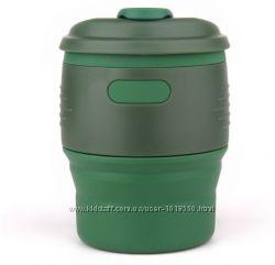 Портативная складная силиконовая чашка для горячих напитков кофе чая, 350мл