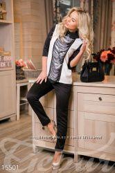 Стильный женский костюм блуза и брюки