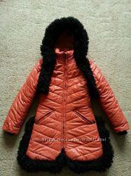 Куртка пальто зима 134-146 р