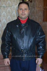 Куртка кожанная мужская GROWL размер 52 для байкеров производства Туреция