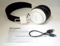 Наушники ATLANFA AT-7611 блютуз, radio, sd карта. Качественный звук