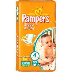 Подгузники Pampers Sleep and Play 4 50