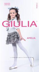 Детские колготки Giulia разной плотности с ажурным рисунком.
