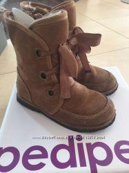 Зимние ботинки на овчине pediped, стелька 18, 3 см