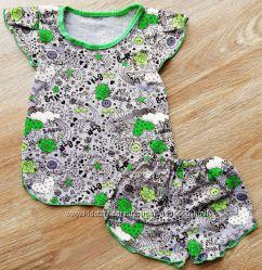 летняя пижама для девочки ЛЕТО