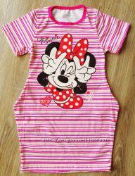 детское платье с боковыми карманами Минни большемерят