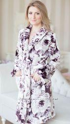 Флис-махра халаты, пижамы класса люкс S - XXL. SHATO осень 2017. Польша