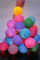 Гирлянда из хлопковых фонариков 35 шариков Fiesta