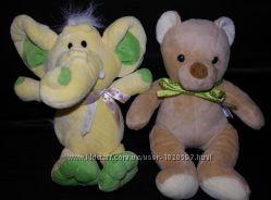 мягкие игрушки новые слон мишка 25-30см