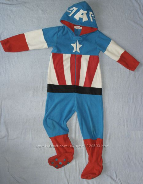капитан америка marvel Avengers Assemble Primark Essentials слип кигуруми
