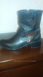 Ботинки стильные кожаные