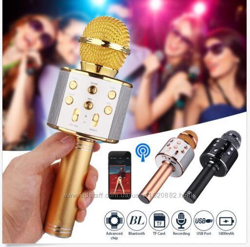 Супер Отличный подарок Беспроводной микрофон колонка bluetooth WsterWS-858
