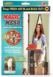 Москитная сетка шторка на магнитах на дверь Magic mesh