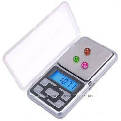 Карманные ювелирные электронные весы 0, 1-200г 0, 1-500г  на батарейках
