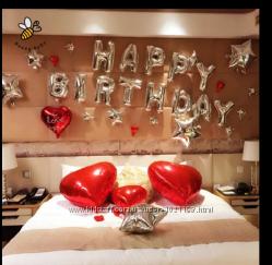 Шарики фольгированые Happy Birthday