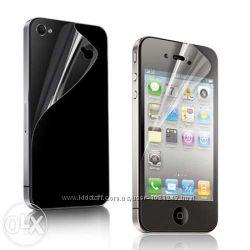 Комплект защитных глянцевых пленок SGP на iPhone 44S