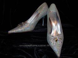 Зеркальные туфельки QUEEN паучки р. 37, 5-38