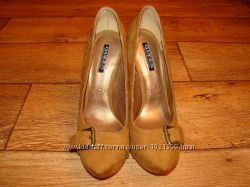 Вечерние туфли цвета коньяка р. 37