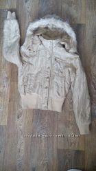 Золотистая демисезонная куртка Teddy, р. S