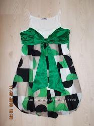 Летний сарафан платье р. L рус. 46, евро 40 с бантом