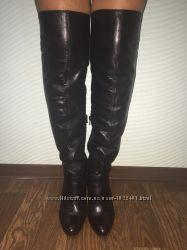 Miss Sixty, кожаные сапоги ботфорты, оригинал, Италия.