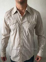 Tommy Hilfiger denim, мужская рубашка. Оригинал. Р. XL, 54. Вестерн  стиль