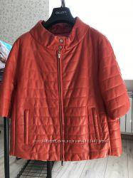 GALLOTTI, яркая кожаная женская куртка. Оригинал. Италия. Размер 42. Фирма