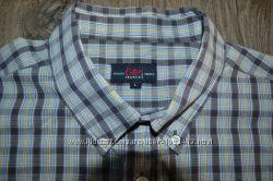 Фирменная рубашка р. L-XL ворот 42-43 см новая