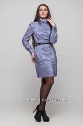 Плащ 42 размер голубо-серый с красивой перфорацией Наличие