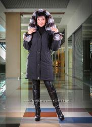 Зимняя куртка - пальто на 50-52 размер, черный Наличие